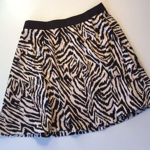 H&M animal print mini skirt
